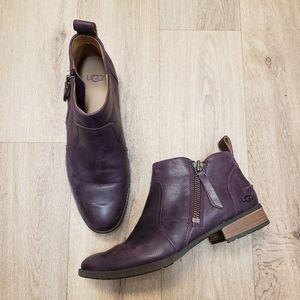 Ugg Aureo Oxblood Color Ankle Boots Size 9.5